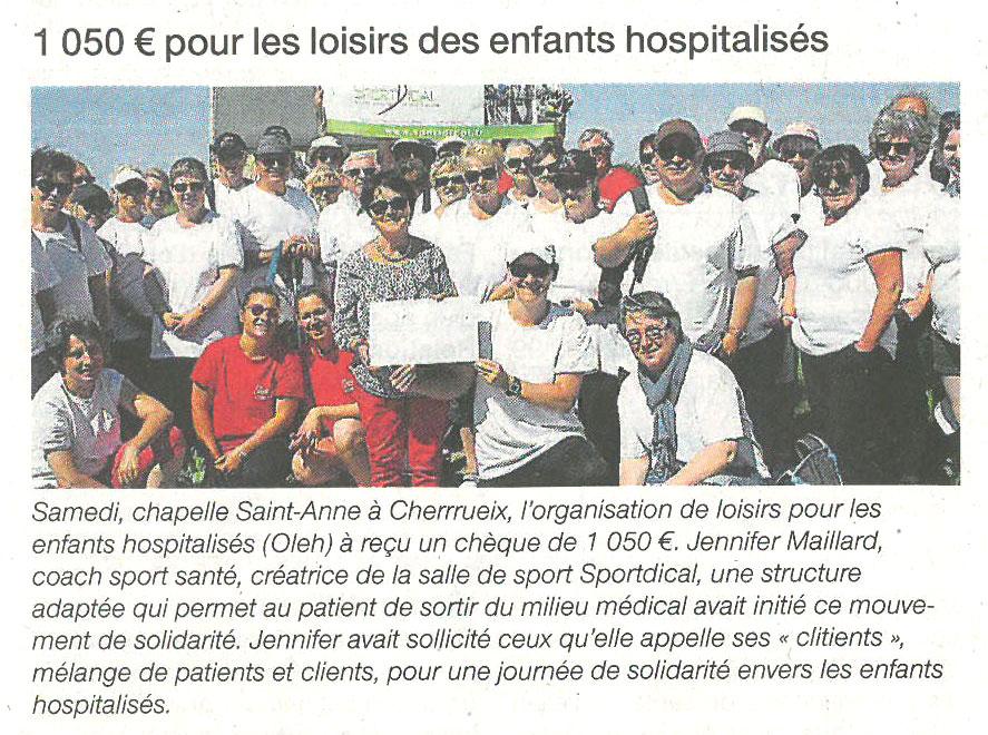 Article presse Ouest France 20 juin 2017