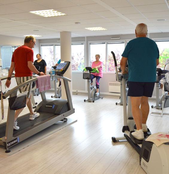 Espace cardiotraining à la salle de sport santé à Saint-Malo