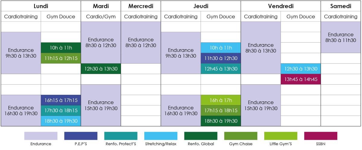 Planning des Activités Physiques Adaptées SportDical